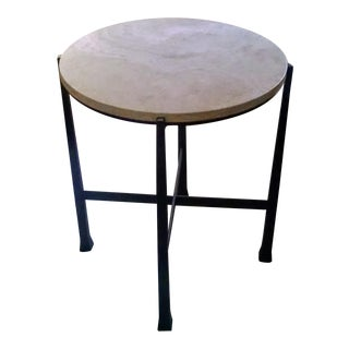 Contemporary Marble Top Side Table
