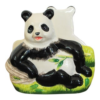 Vintage Panda Bear Napkin or Letter Holder For Sale