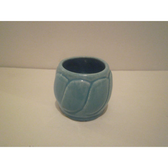 Small Turquoise Broadmoor Pottery Pot - Image 3 of 6