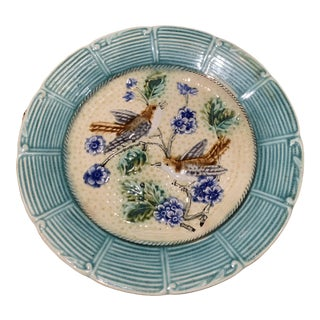 Mid 20th Century Antique Majolica Plate For Sale