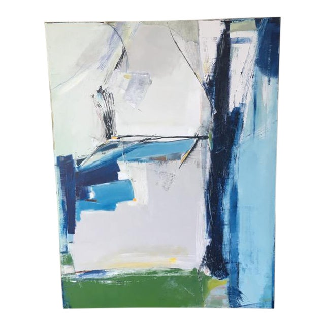 Contemporary Sapphire Painting - Image 1 of 5
