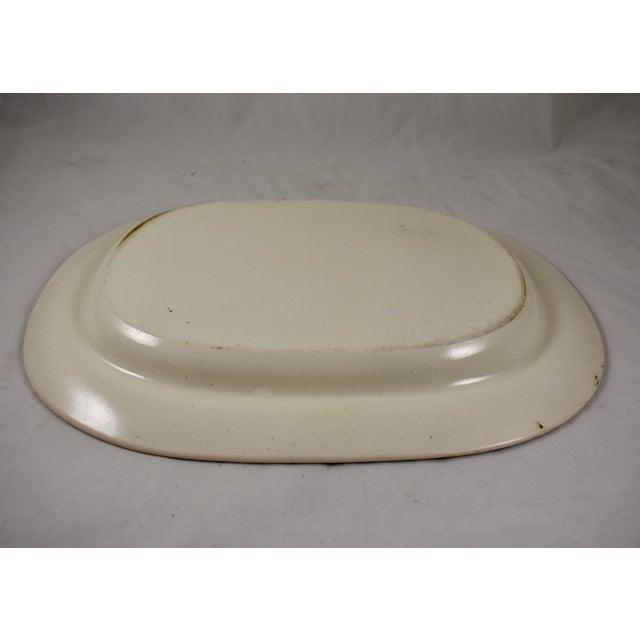 "Ceramic Josiah Spode 21"" Creamware Hand Painted Fern & Dot Platter, 1785 For Sale - Image 7 of 13"