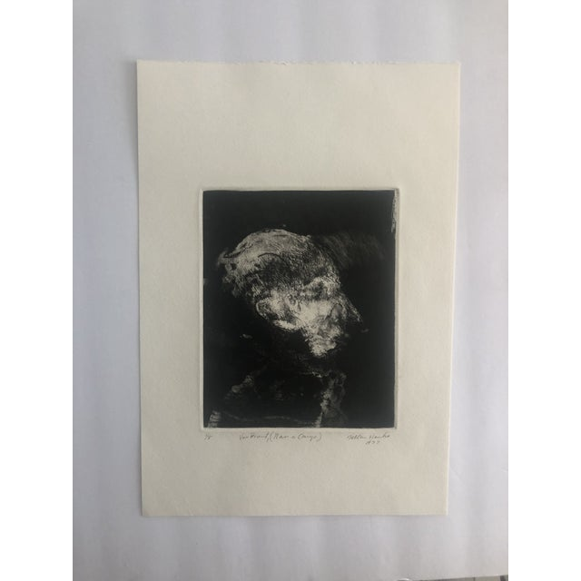 "Modern ""Van Brunt"" Etching by Dellas Henke, 1977 For Sale - Image 3 of 4"
