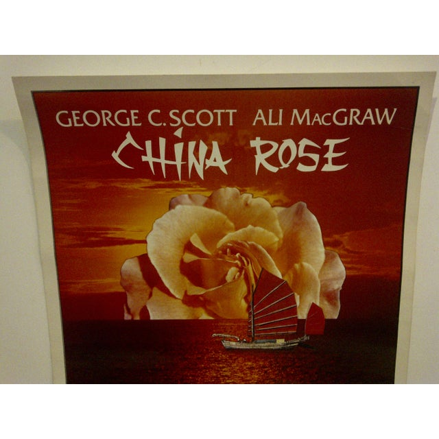 """Contemporary Vintage Television Movie Poster """"China Rose"""" George C. Scott & Ali Macgraw 1983 For Sale - Image 3 of 5"""