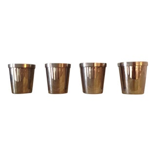 Silverplate Shot Glasses - Set of 4 For Sale
