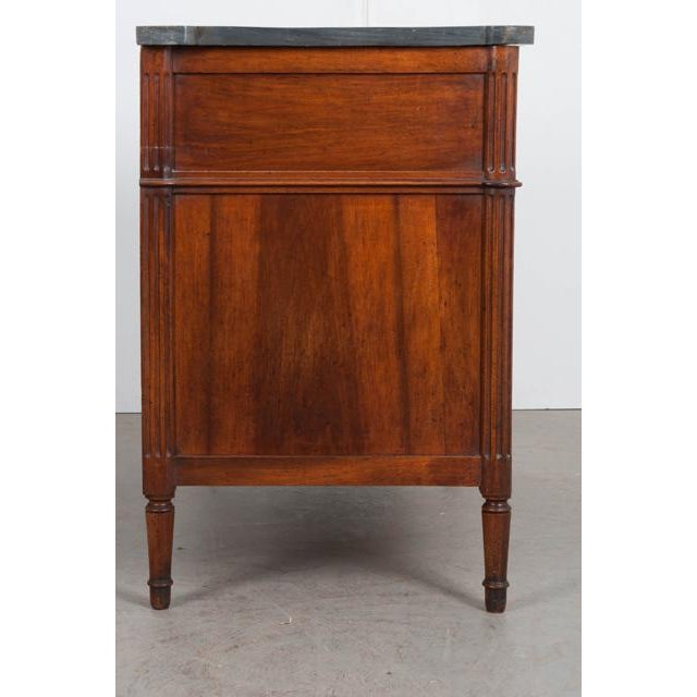 Gold French 19th Century Louis XVI Walnut Commode For Sale - Image 8 of 12