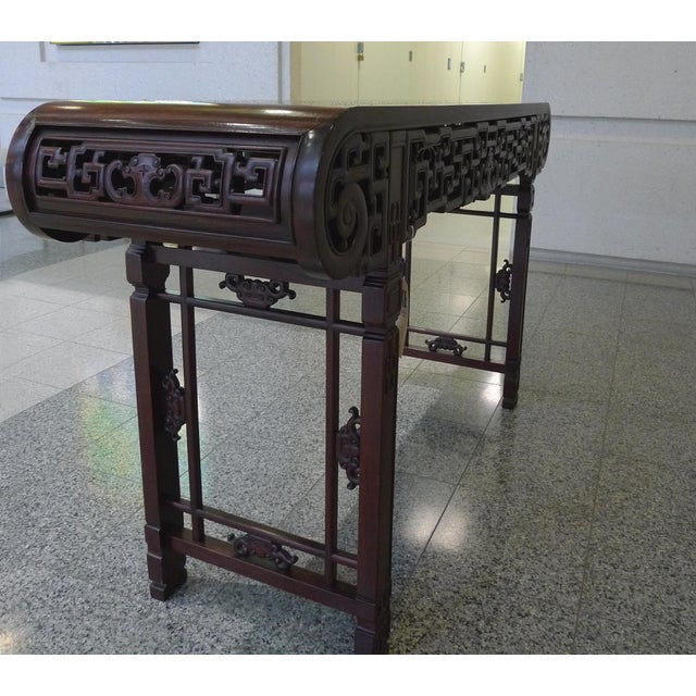 Asian 20th Century Elmwood Asian Altar Table For Sale - Image 3 of 8