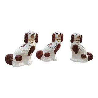 Vintage Staffordshire Dogs Figurines - Set of 3