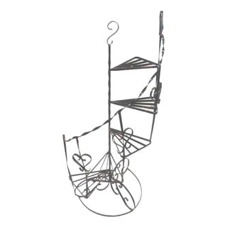 Wrought Iron Stair Step Plant Stand For Sale