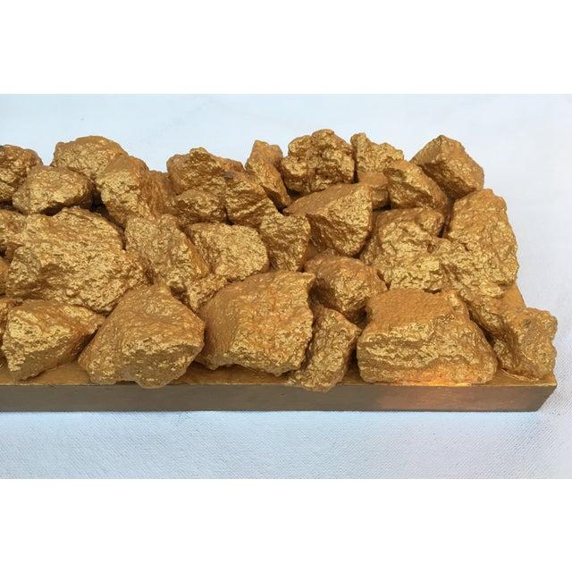 "Suga Lane ""Gilt Duplicidad"" Gold Concrete Rock Sculpture For Sale In Atlanta - Image 6 of 13"
