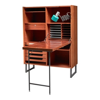 Secretaire with fold out desk, Germany, 1960s For Sale