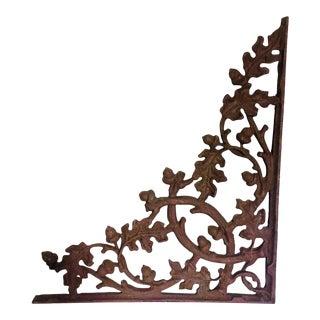 Late 19th Century Antique Cast Iron Veranda Bracket For Sale