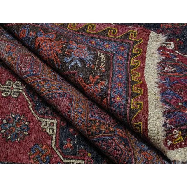 Textile Sumak Carpet For Sale - Image 7 of 10