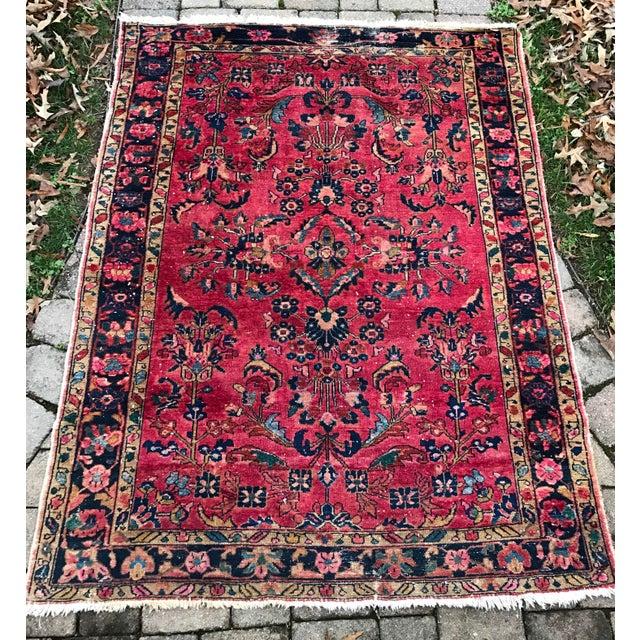 "Vintage Persian Sarouk Rug - 5'1""x 6'7.5"" - Image 2 of 5"