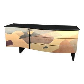 1980s Italian Postmodern Wave Geometric Dresser For Sale