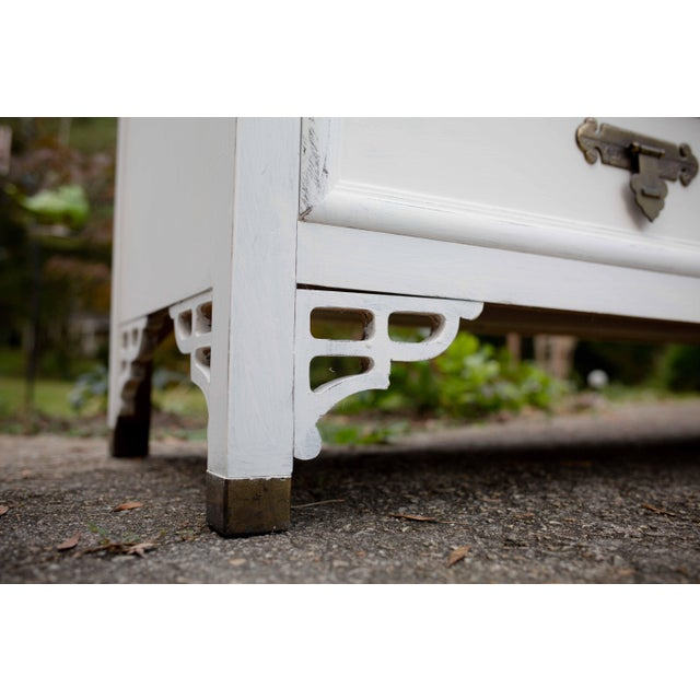 Asian Dixie Antique White Shangri-La 6-Drawer Dresser For Sale - Image 3 of 10