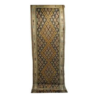 Persian Flat Woven Long Kilim Runner - 4′ × 17′5″ For Sale