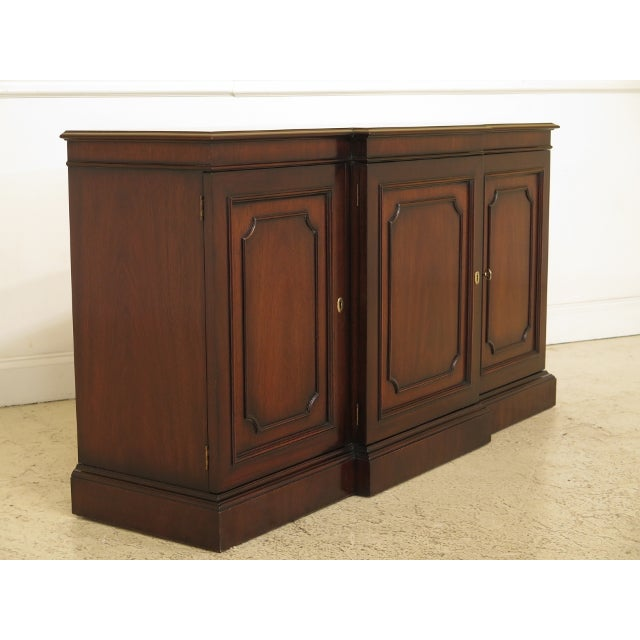 Kindel 3 Door Oxford Mahogany Console Cabinet Chairish