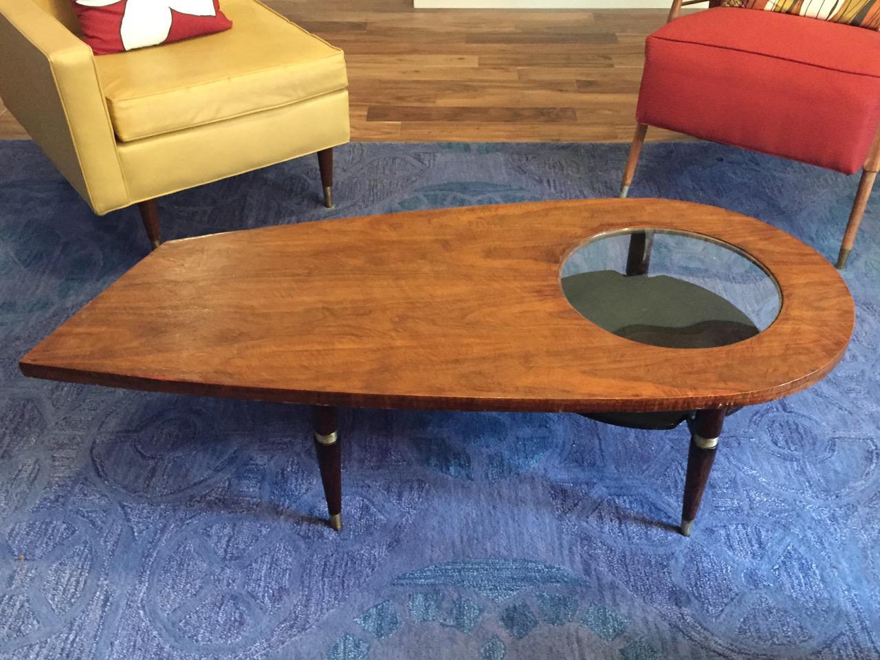 MidCentury Modern Kagan Style Biomorphic Coffee Table Chairish