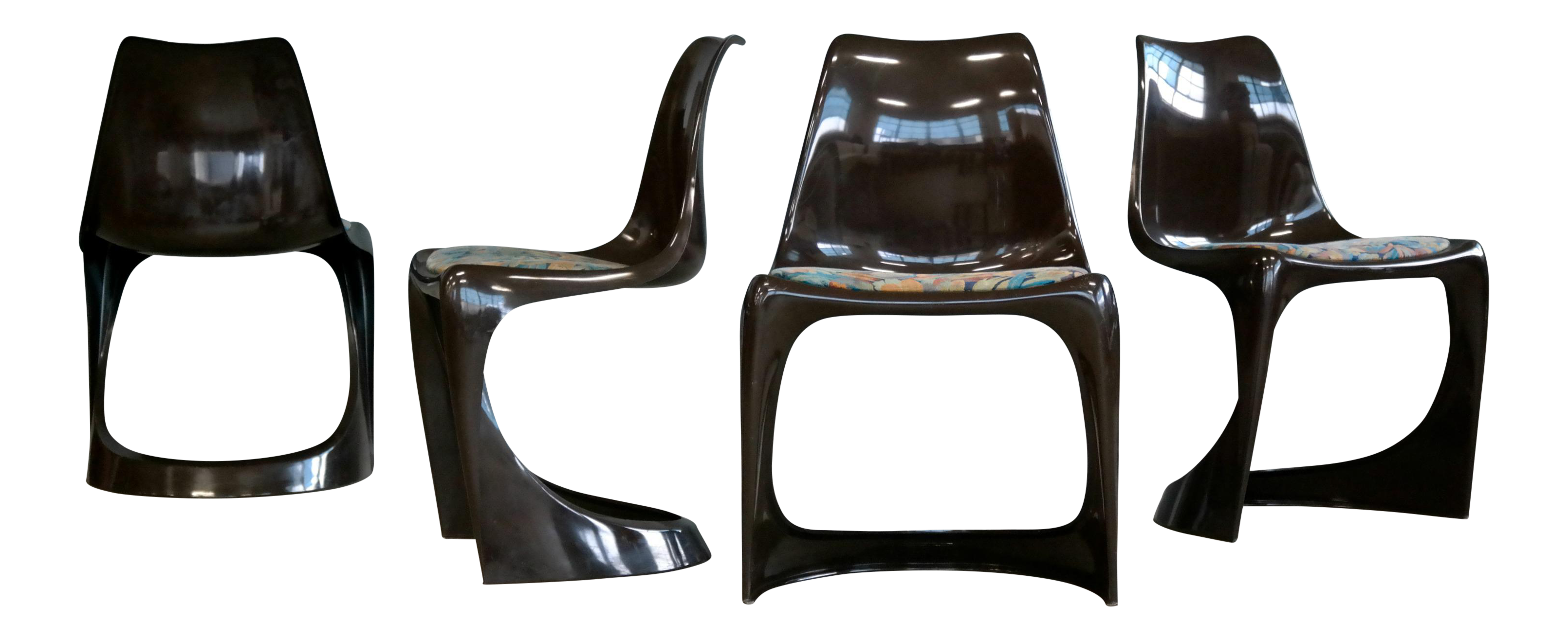 1960s Vintage Steen Østergaard For Poul Cadovius Danish Plastic Dining  Chairs   Set Of 4