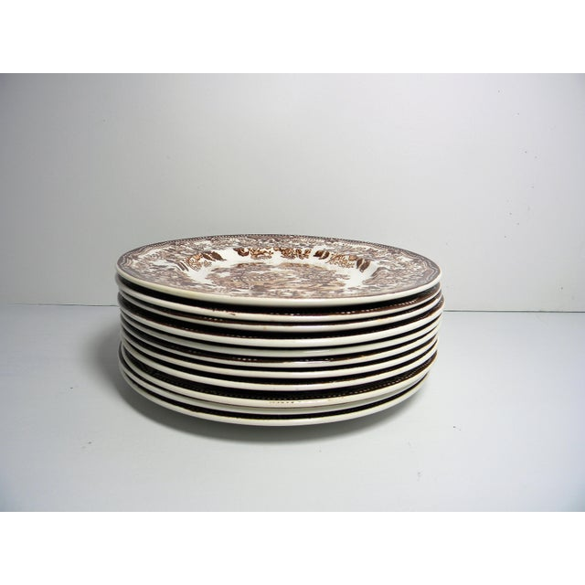 Early 20th Century Antique Royal Staffordshire Bread & Butter Plates - Set of 11 For Sale - Image 4 of 5