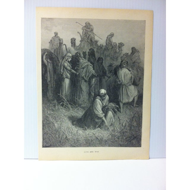 "This is real nice antique print on paper illustrated byGustave Dore' that is titled ""Ruth and Boaz"". The Print was Printed..."