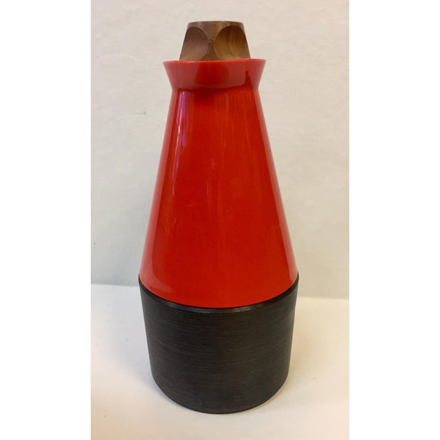 Mid-Century Modern Carafe With Teak Accents For Sale - Image 4 of 10