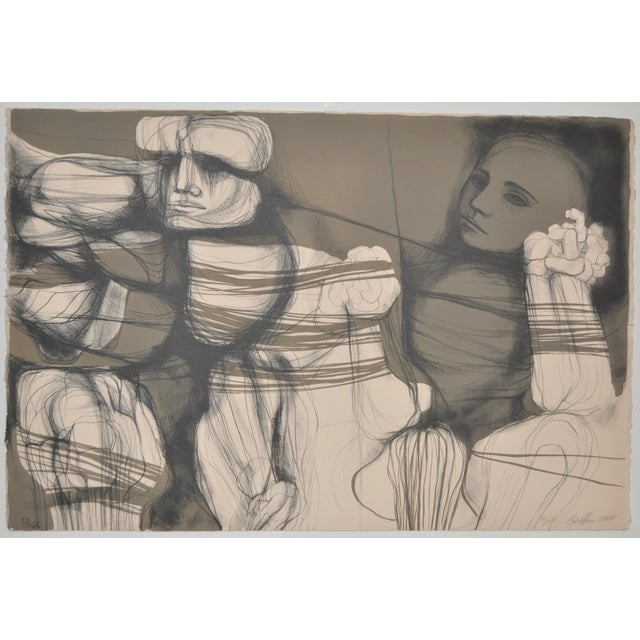 Arnold Belkin Mid Century Modern Lithograph 1964 - Image 1 of 5
