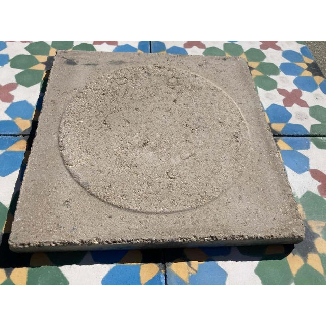 Moroccan Encaustic Cement Tile Border with Moorish Fez Design For Sale - Image 9 of 13