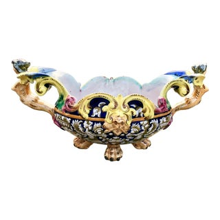 Italian Deruta Style Renaissance Revival Centerpiece Bowl or Tazza For Sale