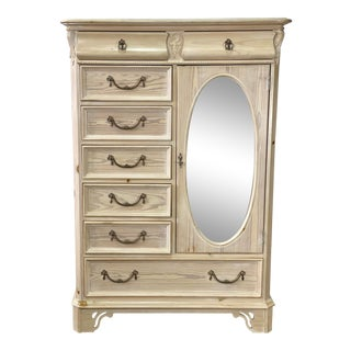 Vintage Lexington Lynn Hollyn Mirrored Chifferobe Chest For Sale
