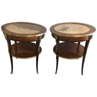 Louis XV Style Marble Gueridon Tables - A Pair For Sale