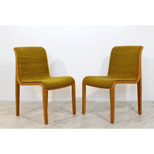 Danish Modern 1970s Mid-Century Modern Bill Stephens for Knoll Blonde Wood Side Chairs - Set of 4 For Sale - Image 3 of 10