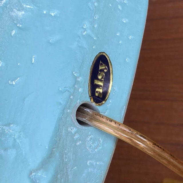 Metal 1980s Alsy Light Blue Plaster Table Lamp For Sale - Image 7 of 13