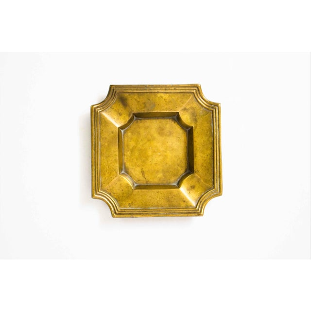 Art Deco 20th Century Art Deco Brass Catchall For Sale - Image 3 of 5
