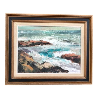 20th Century Nautical Seascape Scene Painting For Sale