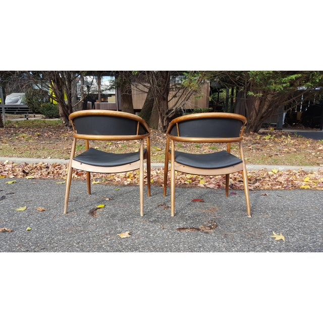Danish Modern James Mont Vintage Mid-Century Lounge Chairs - A Pair For Sale - Image 3 of 7