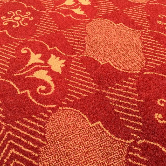Prado Epos Red Wool Area Rug - 6′6″ × 9′10″ For Sale - Image 4 of 8