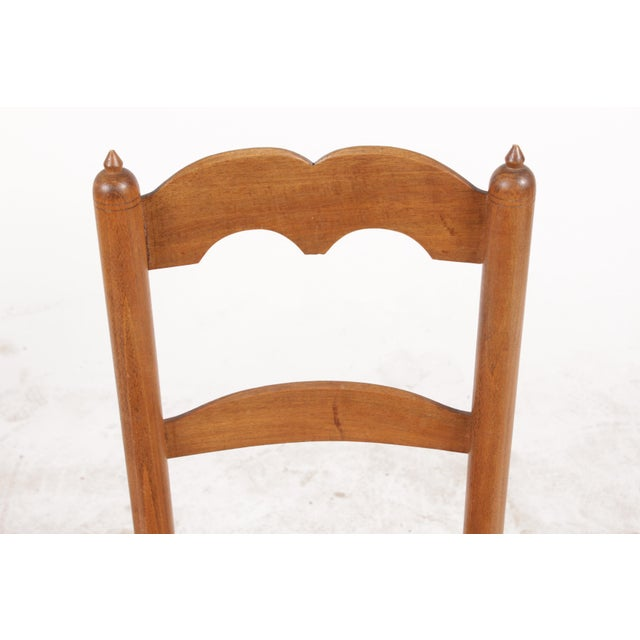 Petite French Rush Chairs - A Pair For Sale - Image 4 of 10