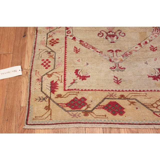 Early 20th Century Antique Shabby Chic Tribal Turkish Ghiordes Rug - 3′5″ × 6′6″ For Sale - Image 5 of 10