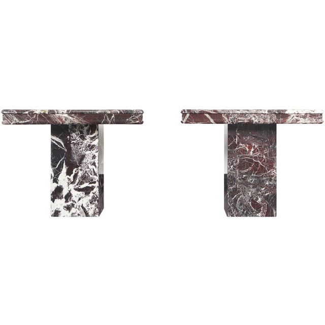 Vintage Italian Marble Side Tables - a Pair For Sale - Image 11 of 11