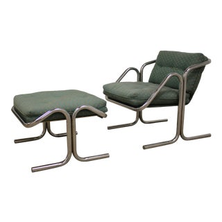 1970s Jerry Johnson Lounge Chair & Ottoman For Sale