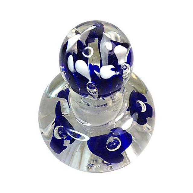 Art Glass Perfume Bottle with Stopper - Image 2 of 4