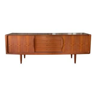 Danish 1950s Teak Credenza Cabinet For Sale