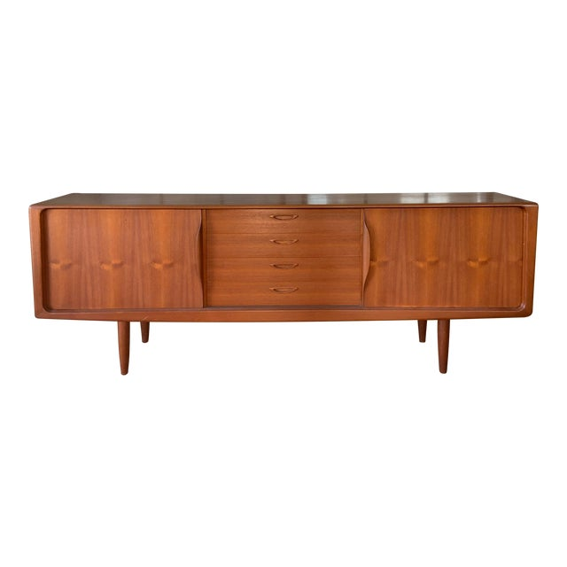 Danish 1950s Teak Credenza Cabinet For Sale