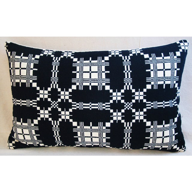 Custom 19th-C. New England Coverlet Pillows - Pair - Image 4 of 11
