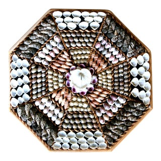 Octagonal Seashell Collage Wall Art