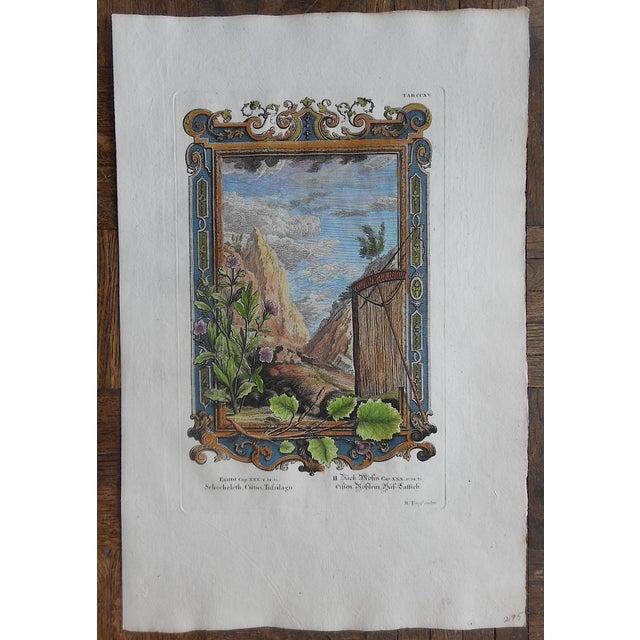 Antique Folio Size Mountain & Sky Engraving - Image 2 of 3