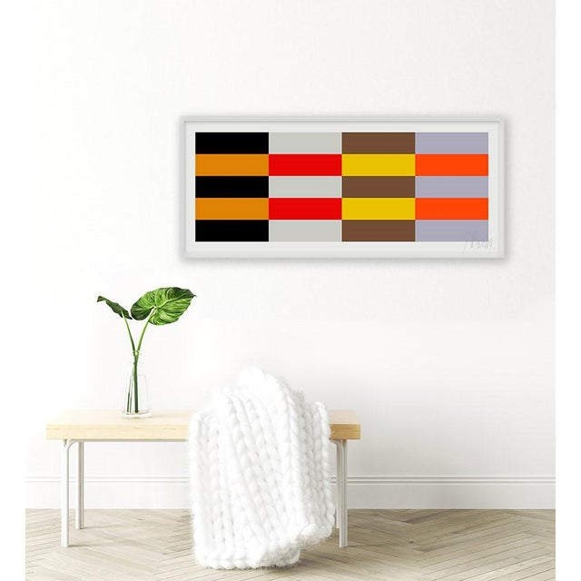 Four Moods, Eight Colors by Liz Roache (Black, Orange, Gray, Red, Brown, Yellow, Purple) This Modern, Mid Century,...