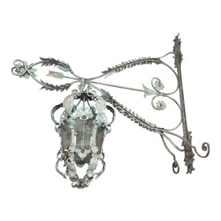 1920s French Oversized Exterior Wall Sconce For Sale
